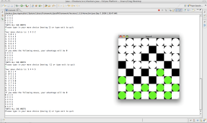 The checkers program, with graphical interface.